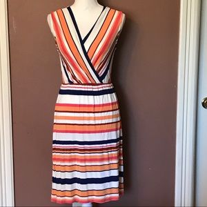 Merona Multi Colored Stripped V-Neck Sundress
